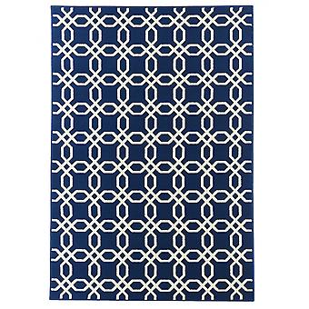 In - and outdoor carpet balcony / living room coastal living blue natural 160 x 230 cm