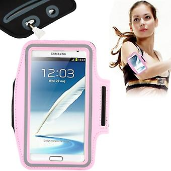 Sportarmband voor Samsung Galaxy 2 N7100 touch / touch 3 N9000 roze