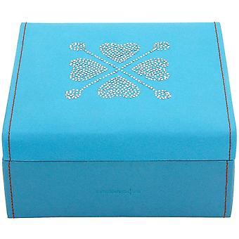 Friedrich skinn tilfellet smykker smykkeskrinet BACCARAT blå