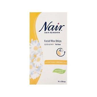 Nair Facial Wax Strips