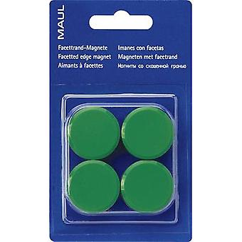 Maul Magnet MAULpro (Ø x H) 30 mm x 10 mm Round, Facet edge Green 4 pc(s) 6177255