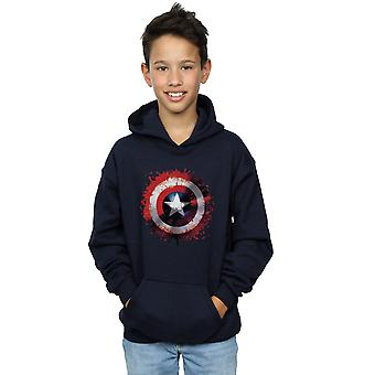Marvel Boys Avengers Captain America Art Shield Hoodie