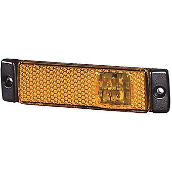 HELLA 008645011 8645 Series LED Amber Side Marker Lamp with Reflex Reflector