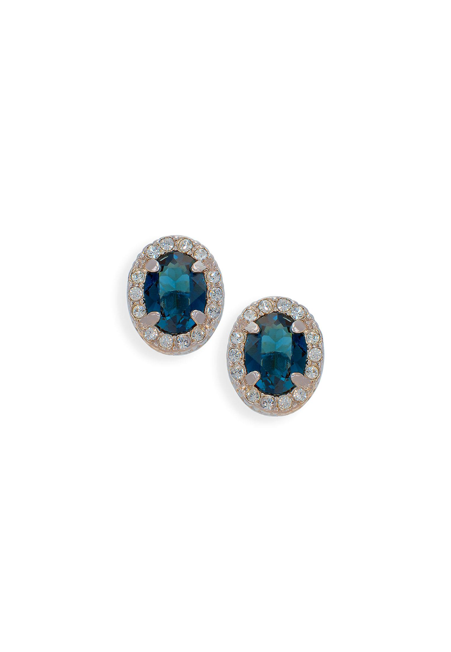 Blue earrings with crystals from Swarovski 511