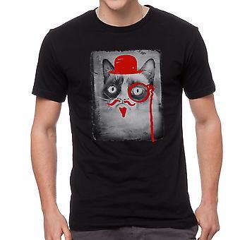 Grumpy Cat onleesbaar norse mannen zwart grappig T-shirt