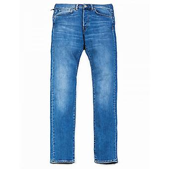Edwin Jeans Ed-80 Loose Tapered Cs Power Blue Denim - Pacific Wash