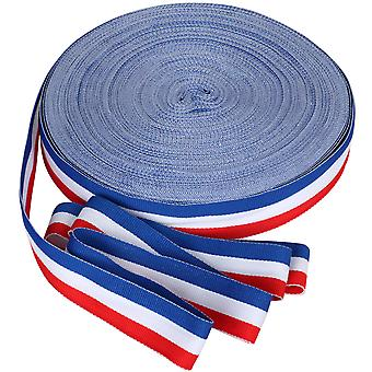 45m x 25mm French Tricolour Decorative Ribbon National Celebrations - By TRIXES