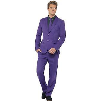 Fioletowy garnitur, duży