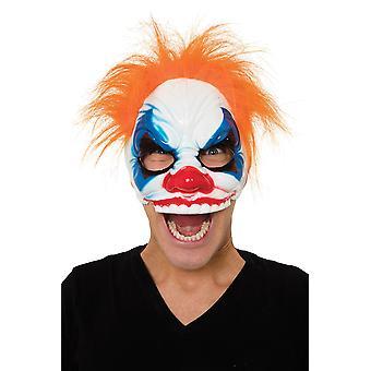 Clown halve gezicht (bril Frame) oog masker met haar