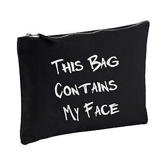 Black This Bag Contains My Face Make up Bag