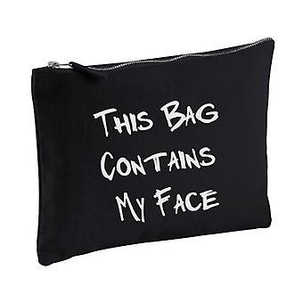 Zwart deze zak bevat mijn gezicht make-up tas