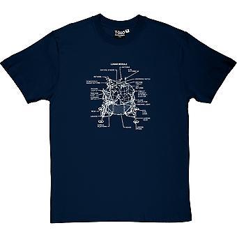 Apollo Lunar Module Navy Blue Men-apos;s T-Shirt
