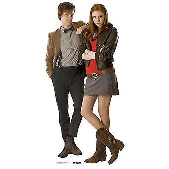 De arts (Matt Smith) & metgezel Amy Pond (Karen Gillan) - BBC Doctor Who / Dr die / Dr Who - Lifesize karton gestanst / Standee