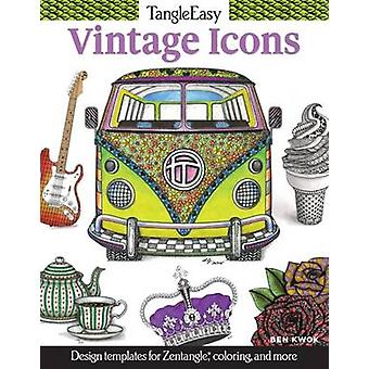 Tangleeasy Vintage Icons - Design Templates for Zentangle(r) - Colorin