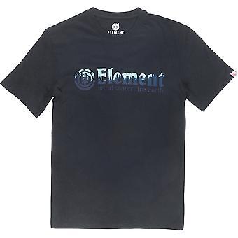Element Glimpse Horizontal Short Sleeve T-Shirt en noir Flint