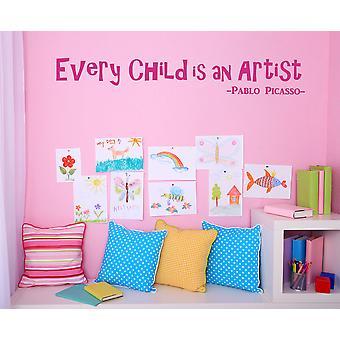 Denn jedes Kind ein Künstler-Wandtattoo ist