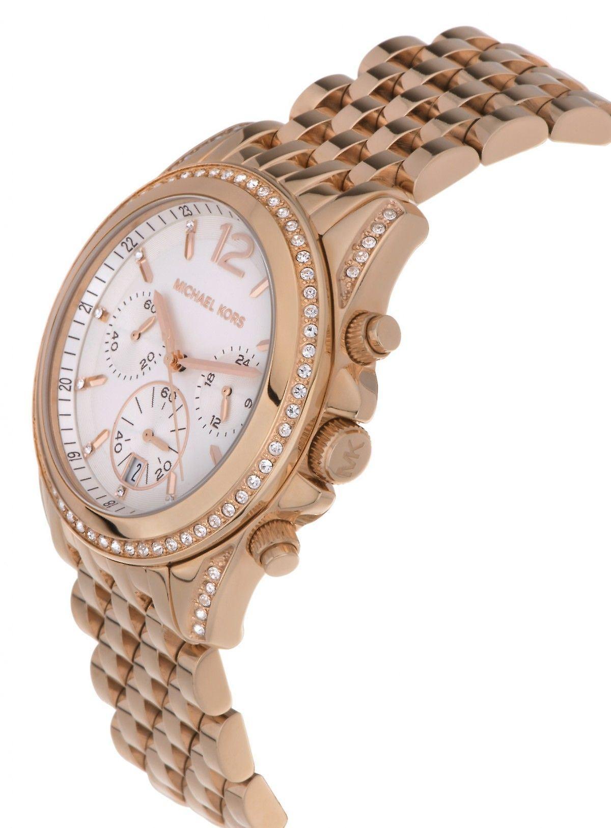 Michael Kors Pressley Mesdames Womens chronographe or Wrist Watch MK5836