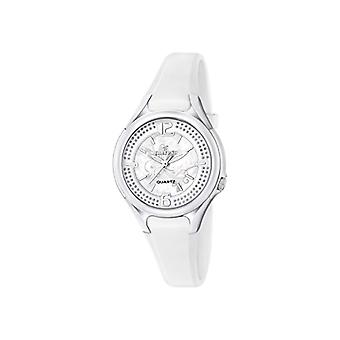Calypso-ladies ' quartz analog Display and plastic strapping, color: white, K5575/1