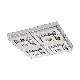 Eglo - Fradelo 4 quadrado duplo LED cristal montagem EG95661 de teto