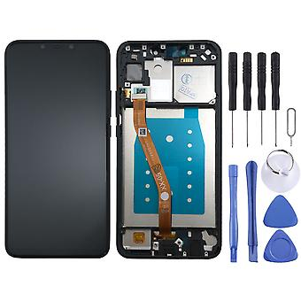 For Huawei P smart plus display full LCD unit touch with frame spare parts repair black new