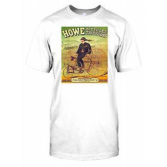 Howe fiets driewielers - Vintage Poster - Penny Black Mens T Shirt
