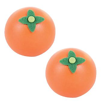 Bigjigs Toys Wooden Play Food Orange (Pack of 2) Pretend Roleplay Kitchen