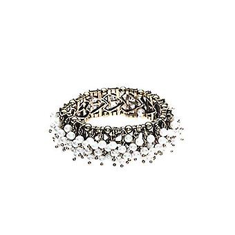 Fashion Stretch Sea Of Faux Pearls Bangle Bracelet