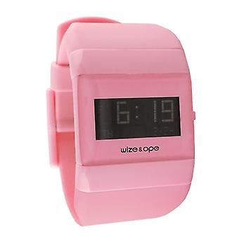 Wize and Ope Classic  Pink Digital  Watch WO-ALL-13