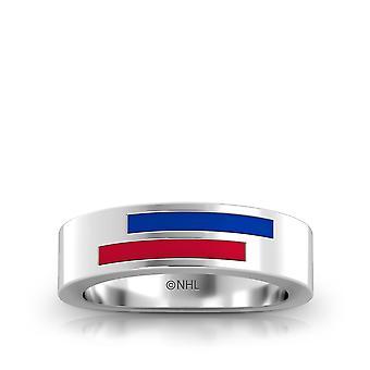New York Rangers Ring In Sterling Silver Design by BIXLER