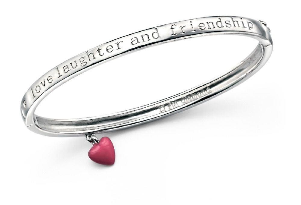 D For Diamond Love, Laughter And Friendship Bangle B4662