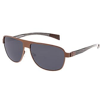 Breed Hardwell Titanium and Carbon Fiber Polarized Sunglasses - Brown/Black