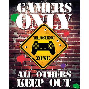 Gamers Only Controller Keep Out Mini Poster 40x50cm