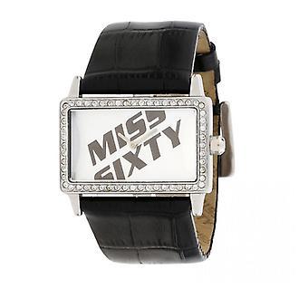Miss 60 vierkante zwarte horloge SJ9003