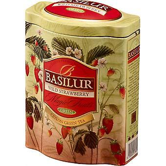 Green Tea With Wild Strawberry Loose Tea In Tin Caddy 100g