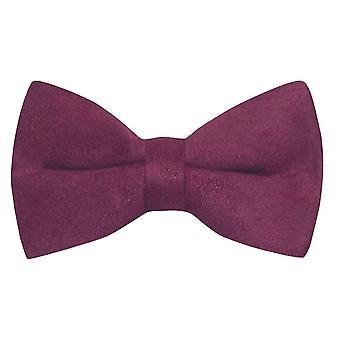 Luxury Plum Purple Suede Bow Tie