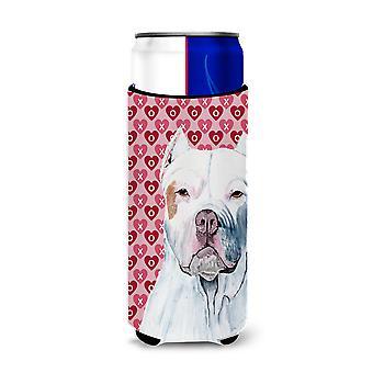 Pit Bull corações amor e Valentine ' s dia retrato ultra bebidas isoladores para