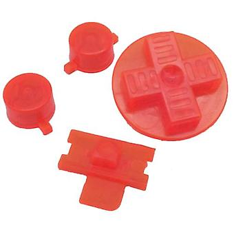Replacement button set a b d-pad power switch for nintendo game boy original dmg-01 - clear red