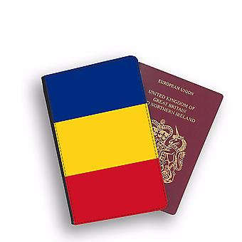 ROMANIA Flag Passport Holder Style Case Cover Protective Wallet Flags design