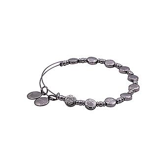 Alex and Ani Coin Metal Beaded Bangle Bracelet - Midnight Silver