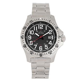 Elevon Aviator Bracelet Watch w/Date - Silver/Black
