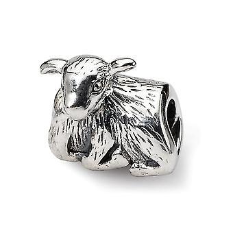 925 Sterling Silver finition polonaise Réflexions SimStars Lamb Bead Charm Pendant Necklace Bijoux Cadeaux pour les femmes
