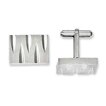Stainless Steel Brushed and Polished Cuff Links Jewelry Gifts for Men