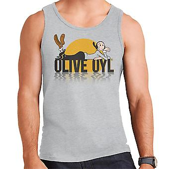 Popeye Olive Oyl Dark Text Men's Vest