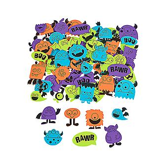 500 Halloween Monster Foam Stickers for Crafts