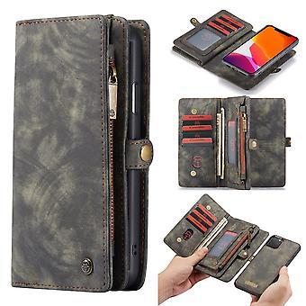 CASEME iPhone 11 Pro Max Retro Split leather wallet Case-grey