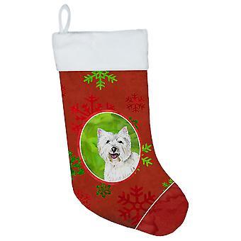 Westie الأحمر والأخضر الثلج عطلة عيد الميلاد عيد الميلاد تخزين SC9410