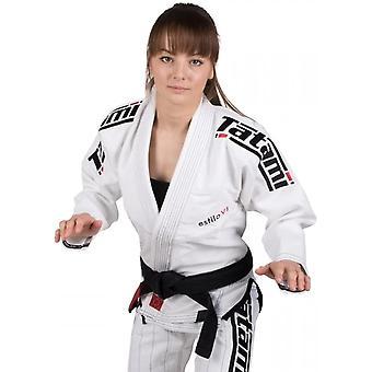 تاتامي ملابس القتال المرأة & s Estilo 6.0 قسط BJJ Gi - أبيض / أسود