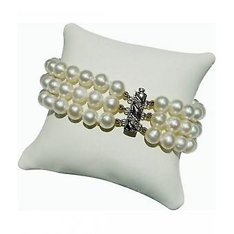 Luna-Pearls Studded Pearls Bracelet 3-row A14
