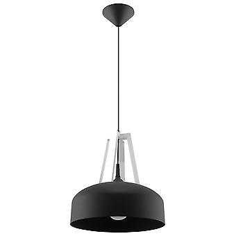 Sollux CASCO 1 Light Dome Ceiling Pendant Black, White SL.0389