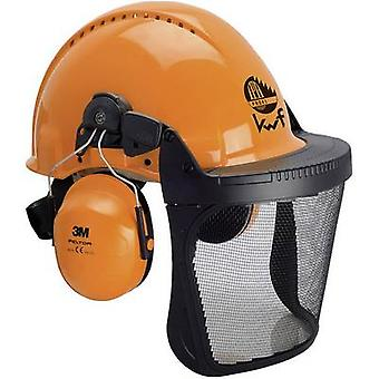 3M Forest XA007707368 Foresters hard hat Built-in face shield Orange